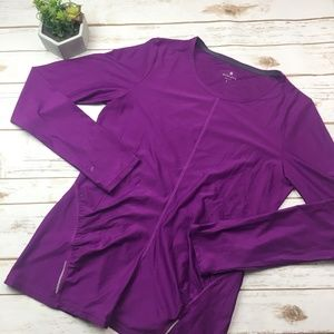 Athleta purple long sleeve synched side top